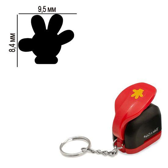 Furador-Chaveiro-Mini-para-Papel-Toke-e-Crie-CFMD02-84x95mm-Luva-Mickey-Mouse