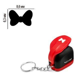 Furador-Chaveiro-Mini-para-Papel-Toke-e-Crie-CFMD03-6x86mm-Laco-Minnie-Mouse
