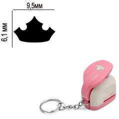 Furador-Chaveiro-Mini-para-Papel-Toke-e-Crie-CFMD06-61x95mm-Coroa-Princesas