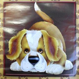 Adesivo-Quadrado-c-Glitter-Litocart-LAQG-32-Cachorro