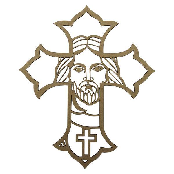 Aplique-em-MDF-Crucifixo-Detalhe-20x15cm---Palacio-da-Arte