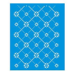 Stencil-Litoarte-211x172-STM1-036-Estampa-Floral-Xadrez