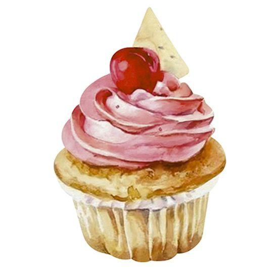 Aplique-Decoupage-Litoarte-APM8-1176-em-Papel-e-MDF-8cm-Cupcake-Rosa