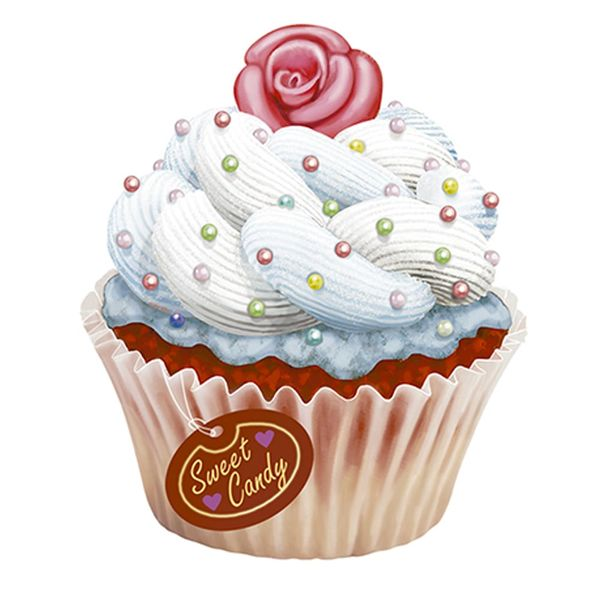 Aplique-Decoupage-Litoarte-APM8-1180-em-Papel-e-MDF-8cm-Cupcake-Branco