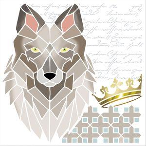 Stencil-Litoarte-20x20-STXX-139-Lobo-Coroa-e-Arabescos