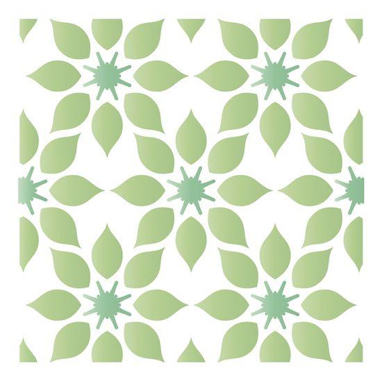 Stencil-Litoarte-10x10-STX-371-Azulejo-Estampa-Flores