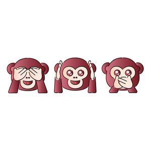 Stencil-Litoarte-344x21-ST-399-Emoji-Carinhas-de-Macaco