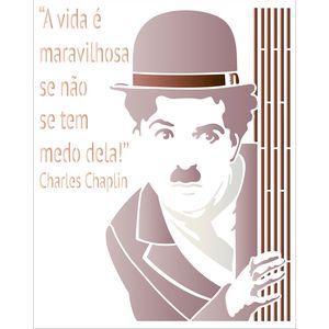 Stencil-Litoarte-25x20-STR-132-Charles-Chaplin-Frase