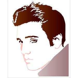 Stencil-Litoarte-25x20-STR-135-Elvis-Presley