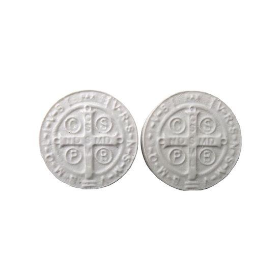 Aplique-de-Resina-Medalha-de-Sao-Bento-32x32cm-com-2-Pecas