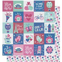 Papel-Scrapbook-Litoarte-305x305-SD-997-Amor-Je-t--aime-Estampa-Flores