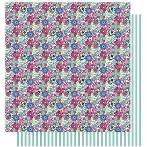 Papel-Scrapbook-Litoarte-305x305-SD-1000-Amor-Je-t--aime-Estampa-Flores