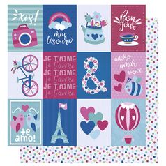 Papel-Scrapbook-Litoarte-305x305-SD-1004-Amor-Je-t--aime-Tags-e-Poa