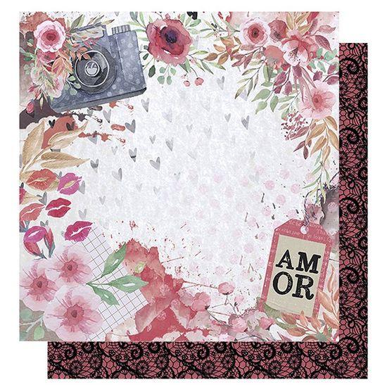 Papel-Scrapbook-Litoarte-305x305-SD-1010-Amor-Love-Story-Flores-e-Maquina-Fotografica