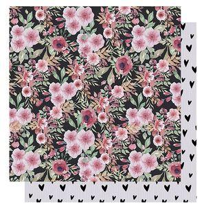 Papel-Scrapbook-Litoarte-305x305-SD-1012-Amor-Love-Story-Estampa-Flores