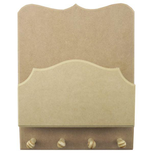 Porta-Chaves-e-Cartas-em-MDF-28x22cm-Trabalhado-4-Pitoes---Palacio-da-Arte