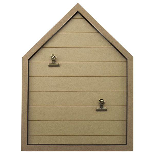Placa-Decorativa-Porta-Recado-em-MDF-264x27cm-Casa-com-2-Presilhas---Palacio-da-Arte