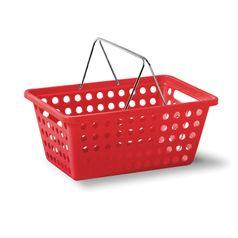 Cesta-Organizadora-com-Alca-M-Vermelha-em-Polipropileno-359-5---Niquelart-