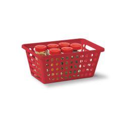 Cesta-Organizadora-Sem-Alca-M-Vermelho-em-Polipropileno-356-5---Niquelart