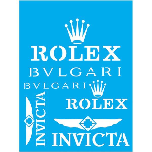 Stencil-Litocart-20x15-LSM-137-Rolex-Bvlgari-Invicta