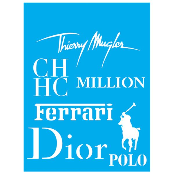 Stencil-Litocart-20x15-LSM-138-Ferrari-Polo-Dior-Million