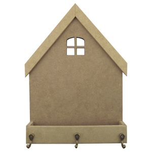 Porta-Chaves-em-MDF-27x205cm-Casa-Floreira-3-Ganchos---Palacio-da-Arte