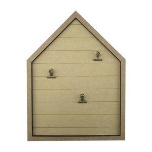 Placa-Decorativa-Porta-Recado-em-MDF-40x20cm-Casa-com-3-Presilhas---Palacio-da-Arte