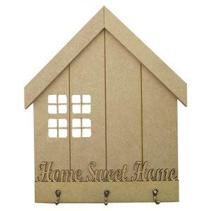Porta-Chaves-em-MDF-327x265cm-Home-Sweet-Home-3-Ganchos---Palacio-da-Arte