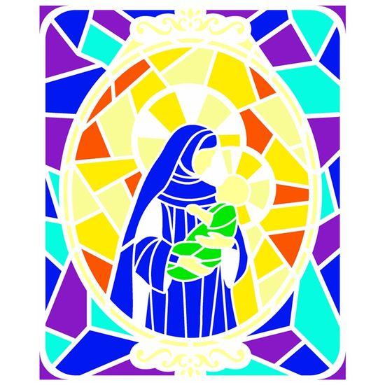 Stencil-OPA-Natal-20x25-2740-Vitral-Nossa-Senhora-1