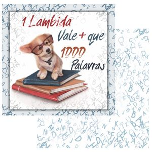 Papel-Scrapbook-OPA-15x15-OPACARD-2762-Pet-2-Cachorro