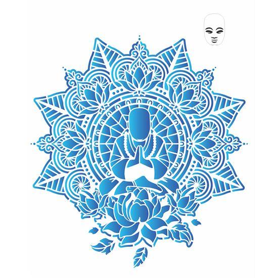 Stencil-OPA-32x42-2728-Mandala-Buda
