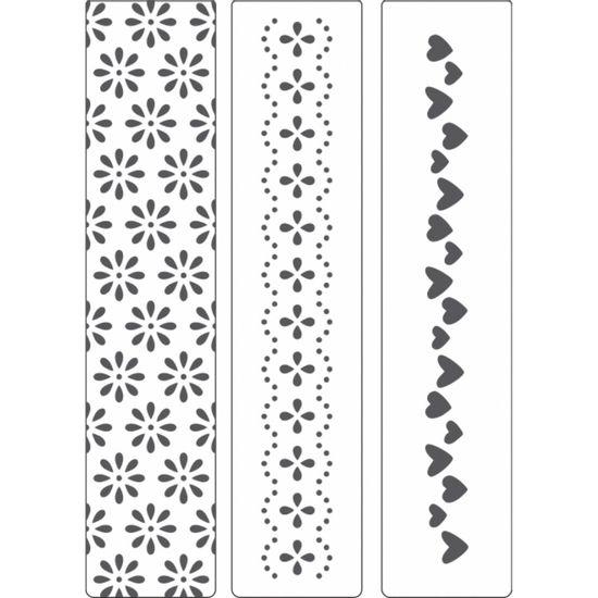 Kit-Placa-para-Relevo-2D-Elegance-Toke-e-Crie-KPR002-com-3-Pecas-32x146-Coracoes-e-Flores