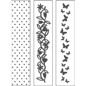 Kit-Placa-para-Relevo-2D-Elegance-Toke-e-Crie-KPR001-com-3-Pecas-32x146-Poa-Borboleta-e-Flores