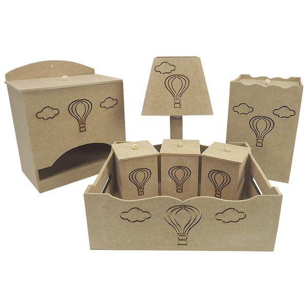 Kit-Higiene-Bebe-em-MDF-Balao-7-pecas-com-Abajur---Palacio-da-Arte