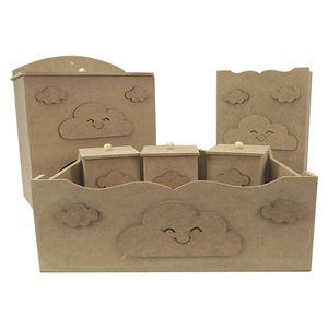 Kit-Higiene-Bebe-em-MDF-Nuvens-6-pecas---Palacio-da-Arte