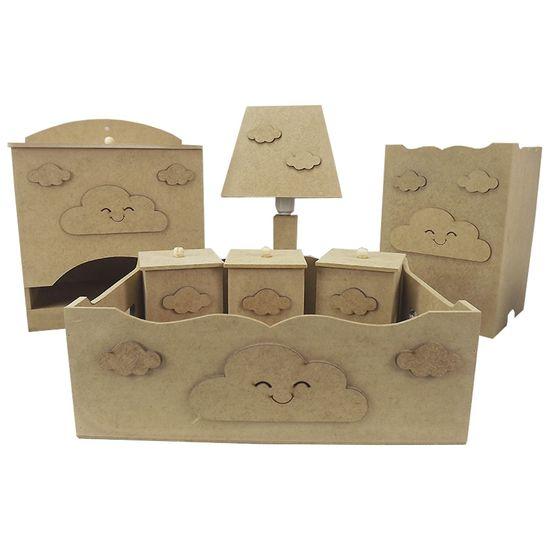 Kit-Higiene-Bebe-em-MDF-Nuvens-7-pecas-com-Abajur---Palacio-da-Arte