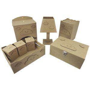 Kit-Higiene-Bebe-em-MDF-Nuvens-8-pecas-com-Abajur-e-Farmacinha---Palacio-da-Arte