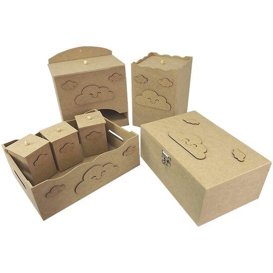 Kit-Higiene-Bebe-em-MDF-Nuvens-7-pecas-com-Farmacinha---Palacio-da-Arte