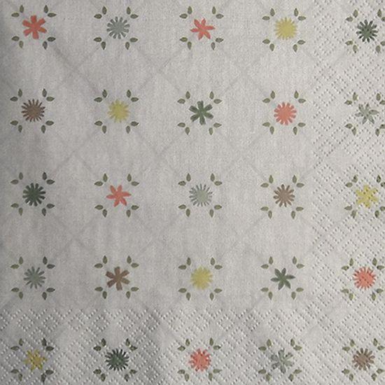 Guardanapo-Decoupage-Toke-e-Crie-GUA211817-2-unidades-Xadrez-Floral