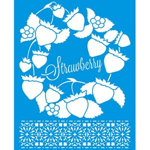 Stencil-Litoarte-25x20-STR-146-Strawberry-Morango