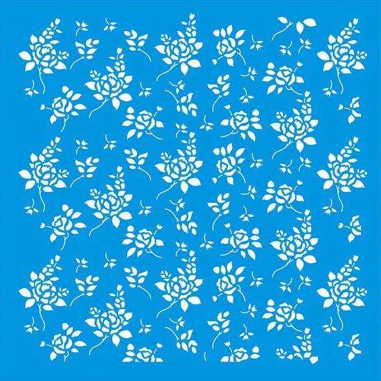 Stencil-Litoarte-20x20-STXX-153-Estampa-de-Rosas