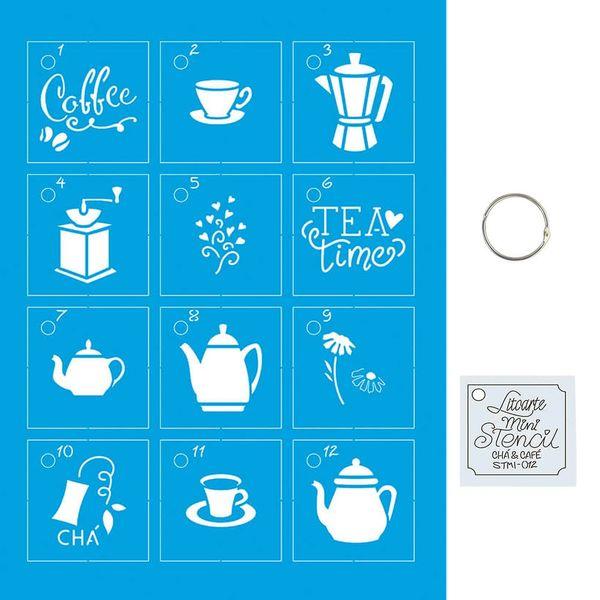 Kit-Stencil-Mini-Litoarte-com-14-pecas-45cm-STMI-012-Cha-e-Cafe