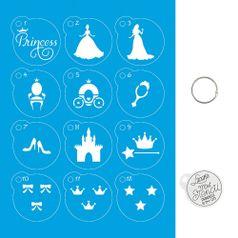 Kit-Stencil-Mini-Litoarte-com-14-pecas-45cm-STMI-013-Princesa