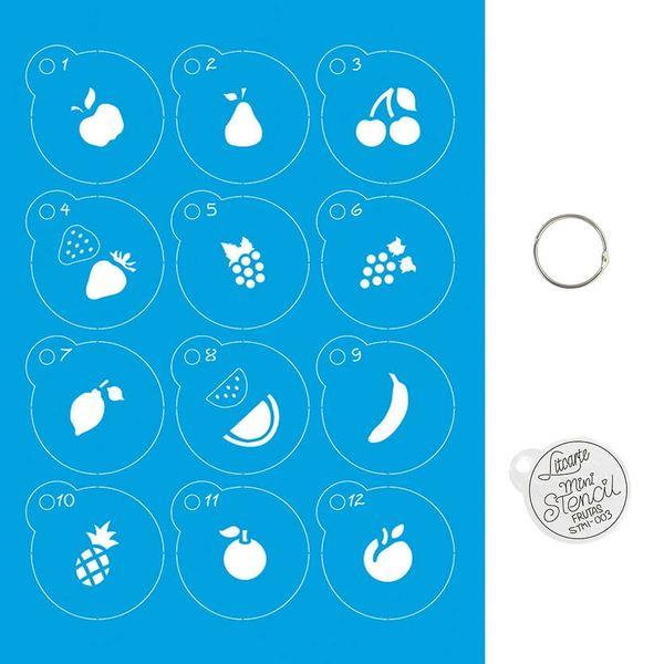 Kit-Stencil-Mini-Litoarte-com-14-pecas-45cm-STMI-003-Frutas