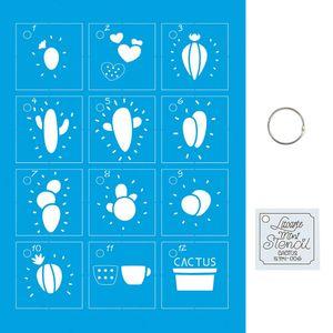 Kit-Stencil-Mini-Litoarte-com-14-pecas-45cm-STMI-006-Cactos