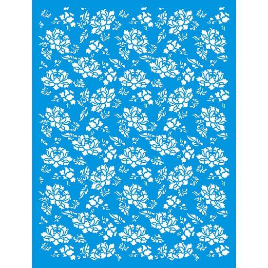 Stencil-Litoarte-422x32-STW-033-Textura-Flores