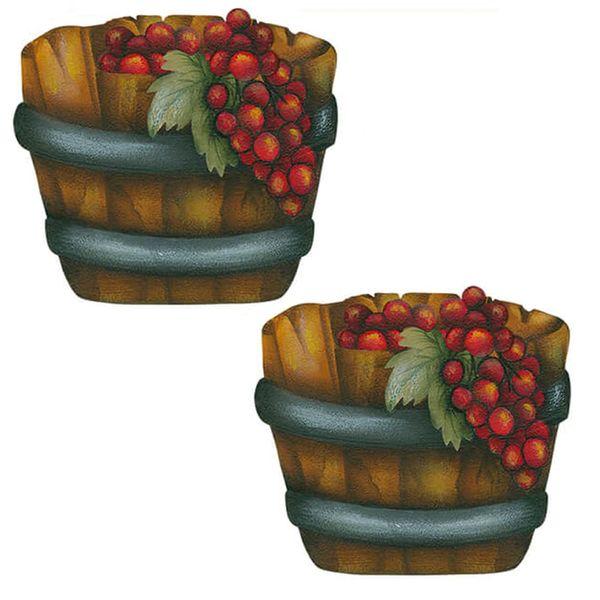 Aplique-Decoupage-Litoarte-APM4-394-em-Papel-e-MDF-4cm-Barril-com-Uvas