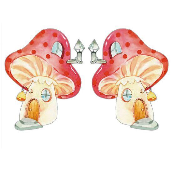 Aplique-Decoupage-Litoarte-APM4-407-em-Papel-e-MDF-4cm-Casinha-Cogumelo