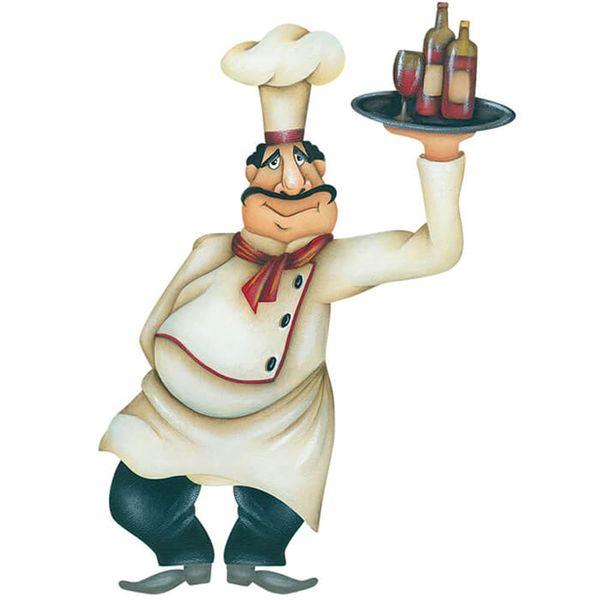 Aplique-Decoupage-Litoarte-APM8-1193-em-Papel-e-MDF-8cm-Cozinheiro-com-Vinho