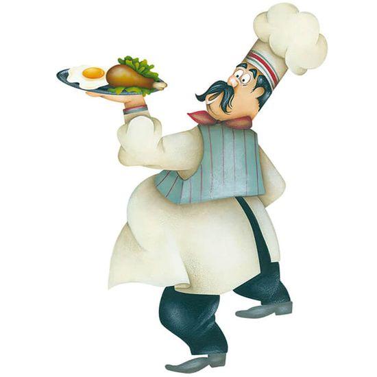Aplique-Decoupage-Litoarte-APM8-1194-em-Papel-e-MDF-8cm-Cozinheiro-com-Comida